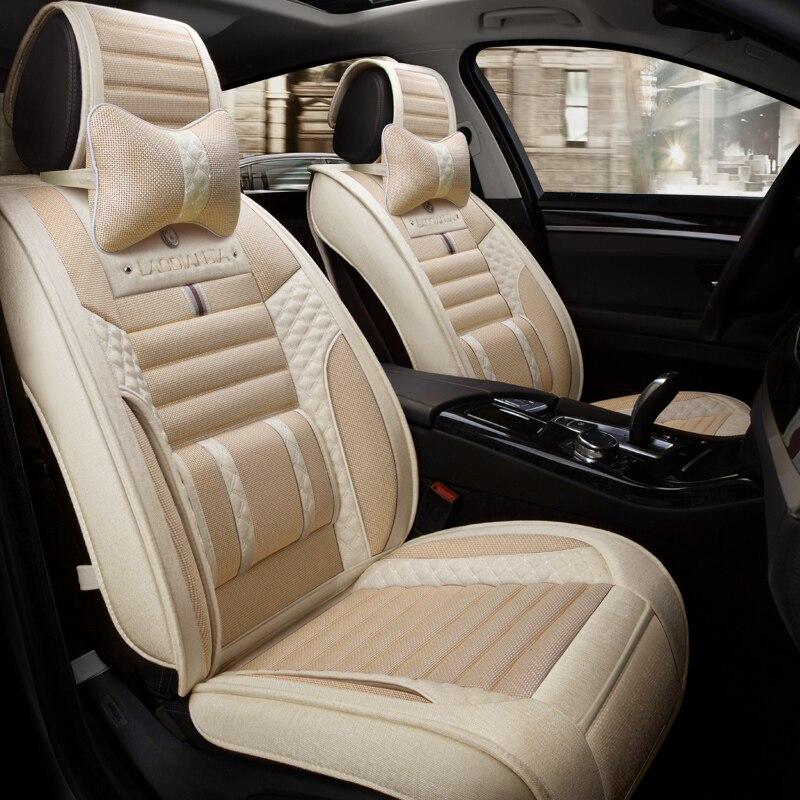 Lao Dian Jia Car Seat Cover Flax ,6D Car Styling For Toyota Camry 40 Corolla RAV4 Verso FJ Land Cruiser LC 200 Prado 150 120