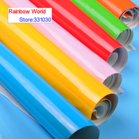 100 138cm 24 Colors High Quality Shiny Vinilic PU Leather Fabric For DIY Sewing Sofa Shoes