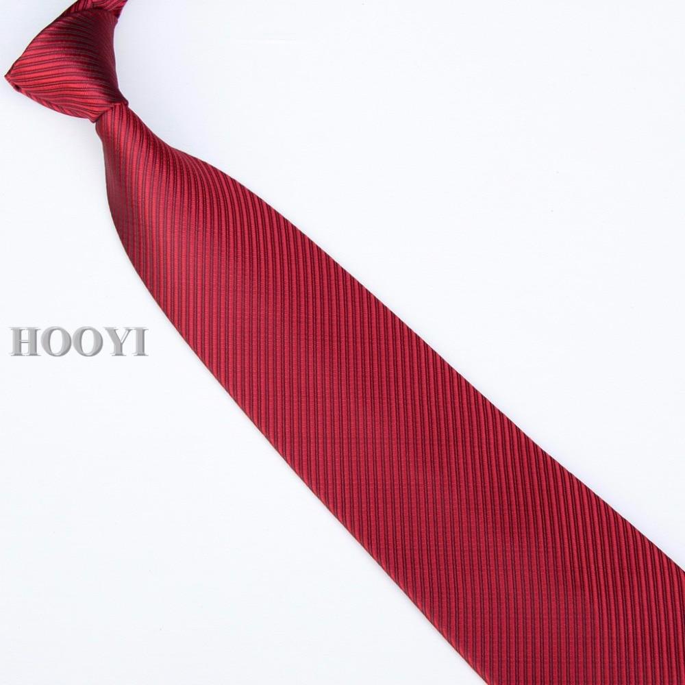 HOOYI 2019 галстук мужской галстук сплошной цвет бизнес красный галстук