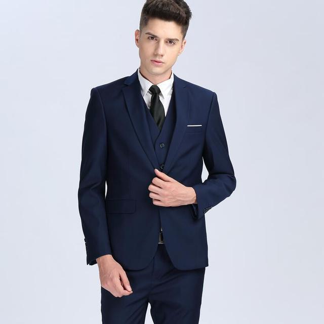 top qualit t modemarke m nner anz ge blazer rot blau grau anzug schlanke m nnliche smoking. Black Bedroom Furniture Sets. Home Design Ideas