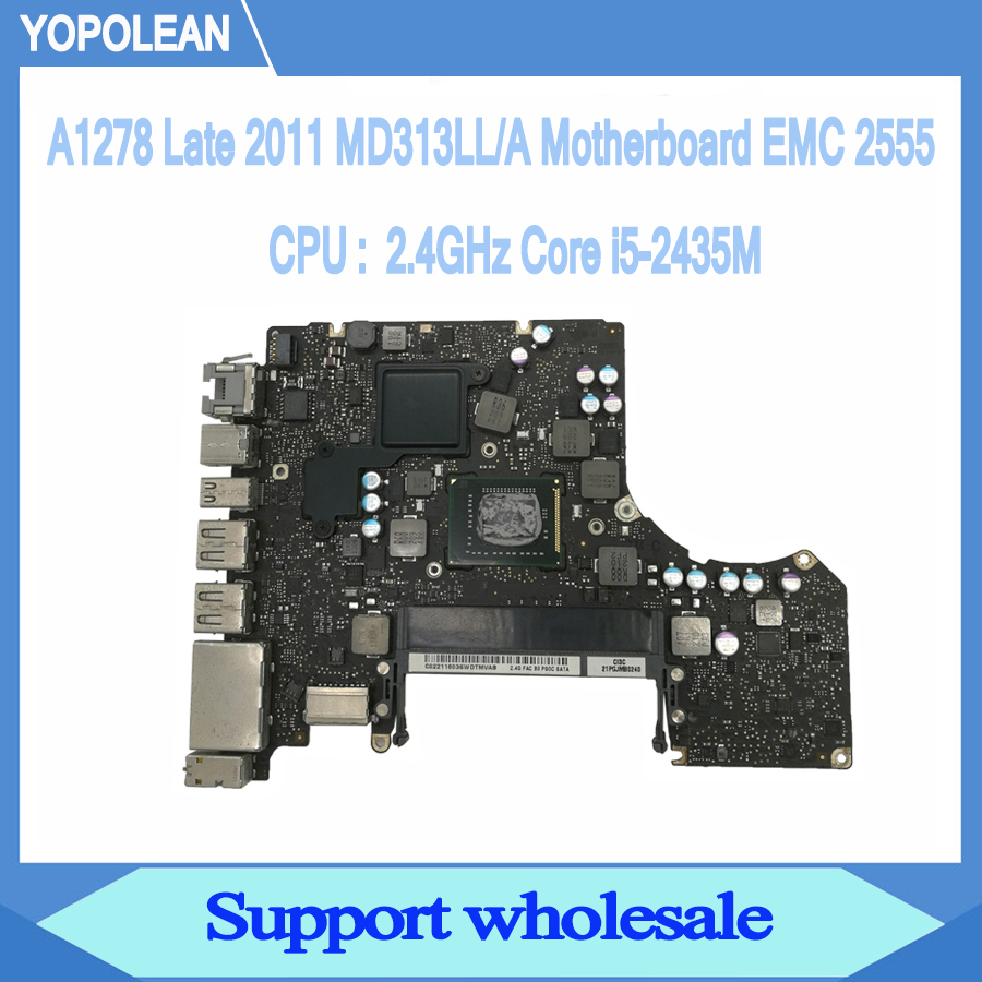 "2.4GHz Core i5-2435M Logic Board For Macbook Pro 13"" A1278 Motherboard MD313LL/A Late 2011 820-2936-B"