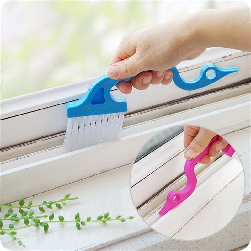 2pcs window track shower door track clean brush home cleaning tools brushes hand tools