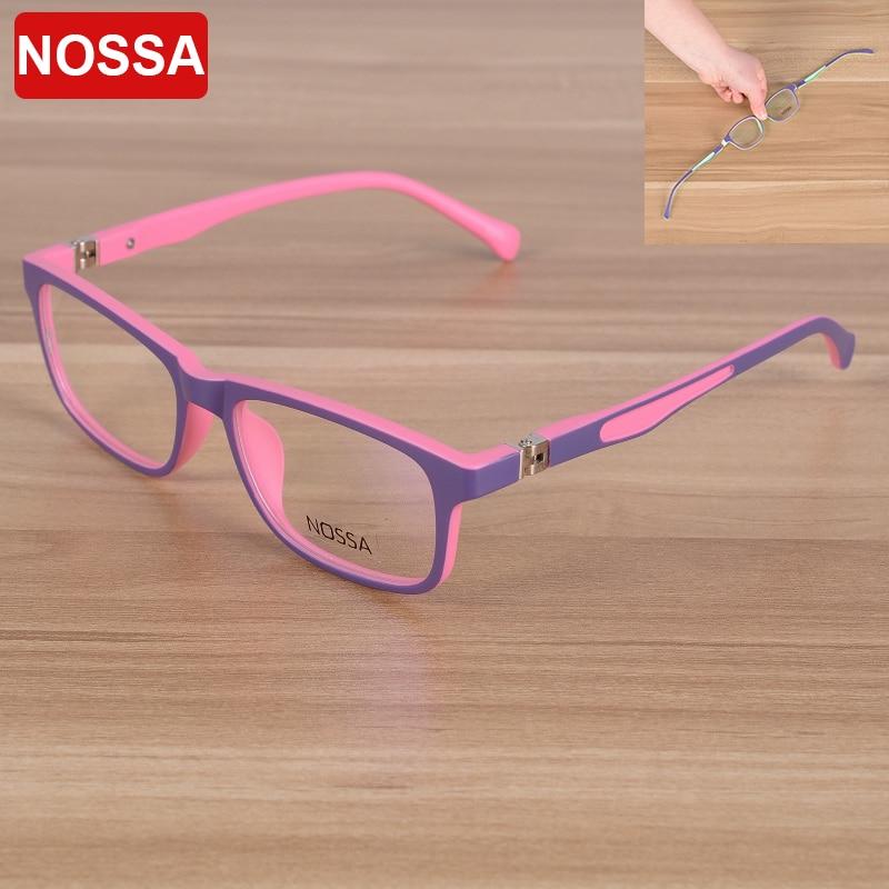 NOSSA 2017 Elegant Fashion Children Optical Glasses Frame Kids Eyewear Eyeglasses Boys Girls Myopia Spectacle Frames Clear Lens