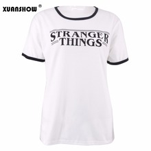 Stylish Cotton Summer STRANGER THINGS T-shirt for Women