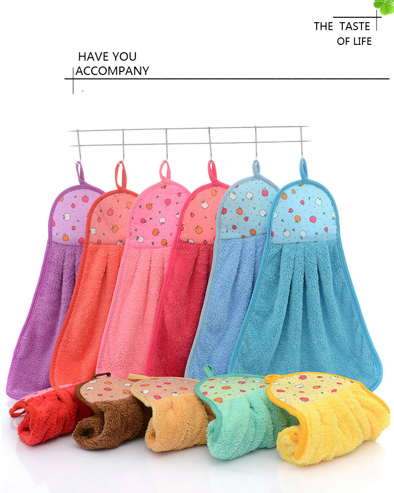5Pcs Hand Towels Cleaning Towel Hanging Towel Cute Kerchief for Kitchen Bathroom