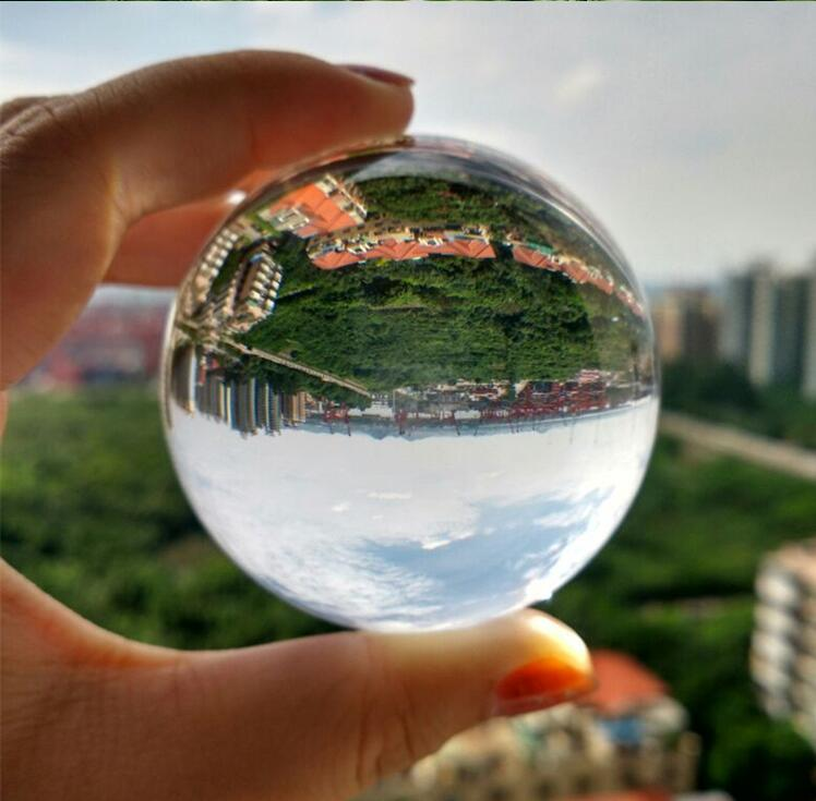 Clear Photography Crystal Ball 60 mm80 mm 100mm Glass Marbles Balls Feng shui Home Decor Sphere Magic Globe Office Creative toys