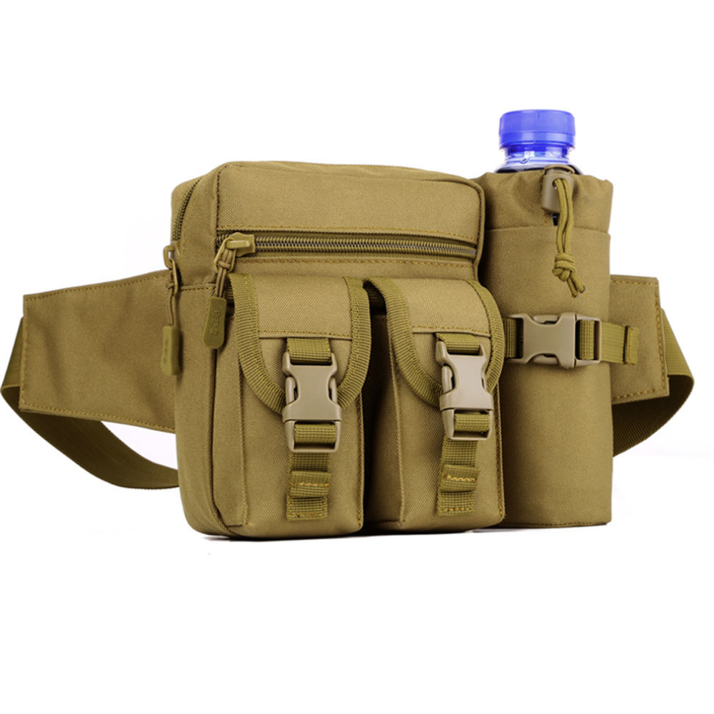 Sports Bag Men Waterproof 1000D Nylon Travel Tactical Water Bottle Fanny Pack Waist Bag Belt Pouch Sports Hunting Hip Packs airsoftpeak military tactical waist hunting bags 1000d outdoor multifunctional edc molle bag durable belt pouch magazine pocket