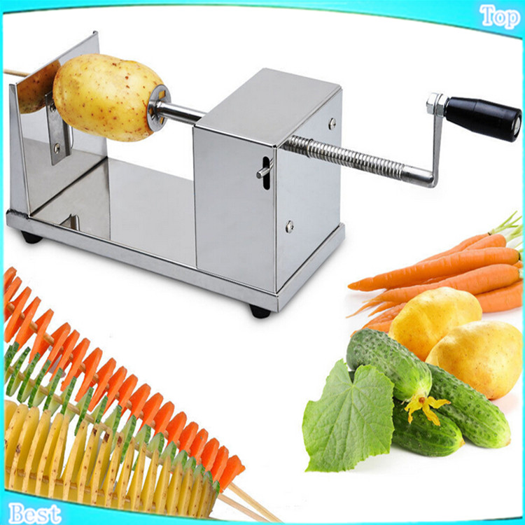 цена на Stainless Steel stainless steel potato slicer,Manual Tornado potato machine ,potato spiral cutting machine,potato chips machine