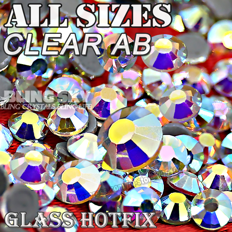 2028 AAA QUALITY CLEAR AB SS3 SS4 SS5 SS6 SS10 SS16 SS20 SS30 Hot Fix Rhinestone Glitters Crystals stone strass for fashion DIY