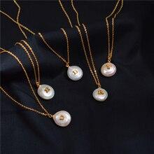 Barokowy perłowy naszyjnik listowy kobiecy przypływ kropla europejski i amerykański zaawansowany zmysł francuski rewolucyjny obojczyk
