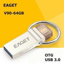 Eaget V90 USB 3.0 100{e3d350071c40193912450e1a13ff03f7642a6c64c69061e3737cf155110b056f} 64 GB teléfono inteligente Tablet PC USB Flash Drives OTG almacenamiento externo micro 64 g pen drive memory stick