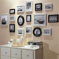 Árbol genealógico marco de fotos clásico de Europa Los Niños marco de fotos de madera arte de la familia marco de la foto de grupo