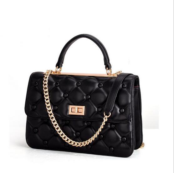 2017 new spring and summer fashionable joker brand high quality chain ling lattice designer women handbag shoulder bag kcae 2017 brand spring and summer new