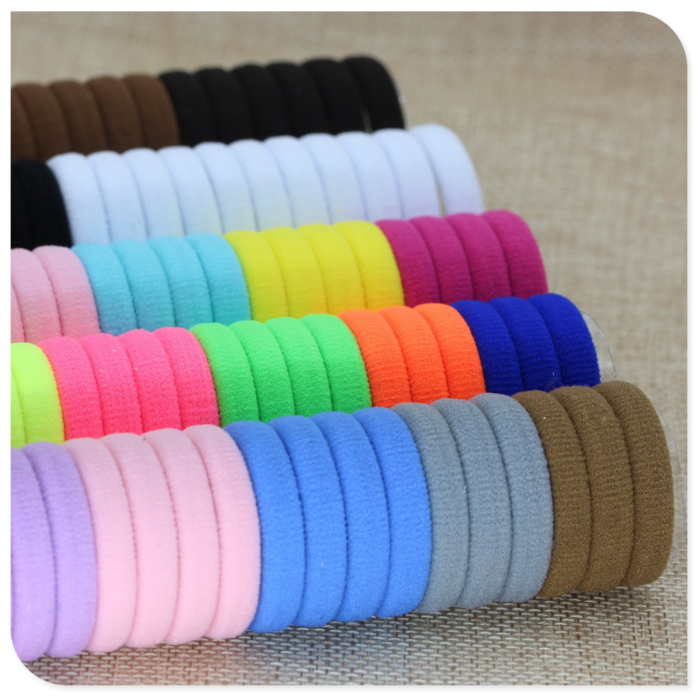 Girls Elastic Hair Accessories For Kids Black White Rubber Band Ponytail Holder Gum For Hair Ties Scrunchies Haarband Cinta Pelo