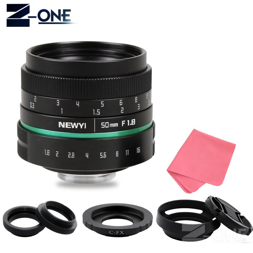 Green Camera lens 50mm f1.8 APS-C Multi-coated Movie Lens+C Mount for Fujifilm FX X-T10 X-T2 X-PRO2 X-PRO1 X-E2 X-E1 X-M1 X-A2 все цены