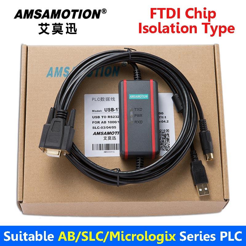 Adatto Allen Bradley Cavo di Programmazione del PLC AB Serie di Dati di Comunicazione Cavo di Download USB-1761-1747-CP3