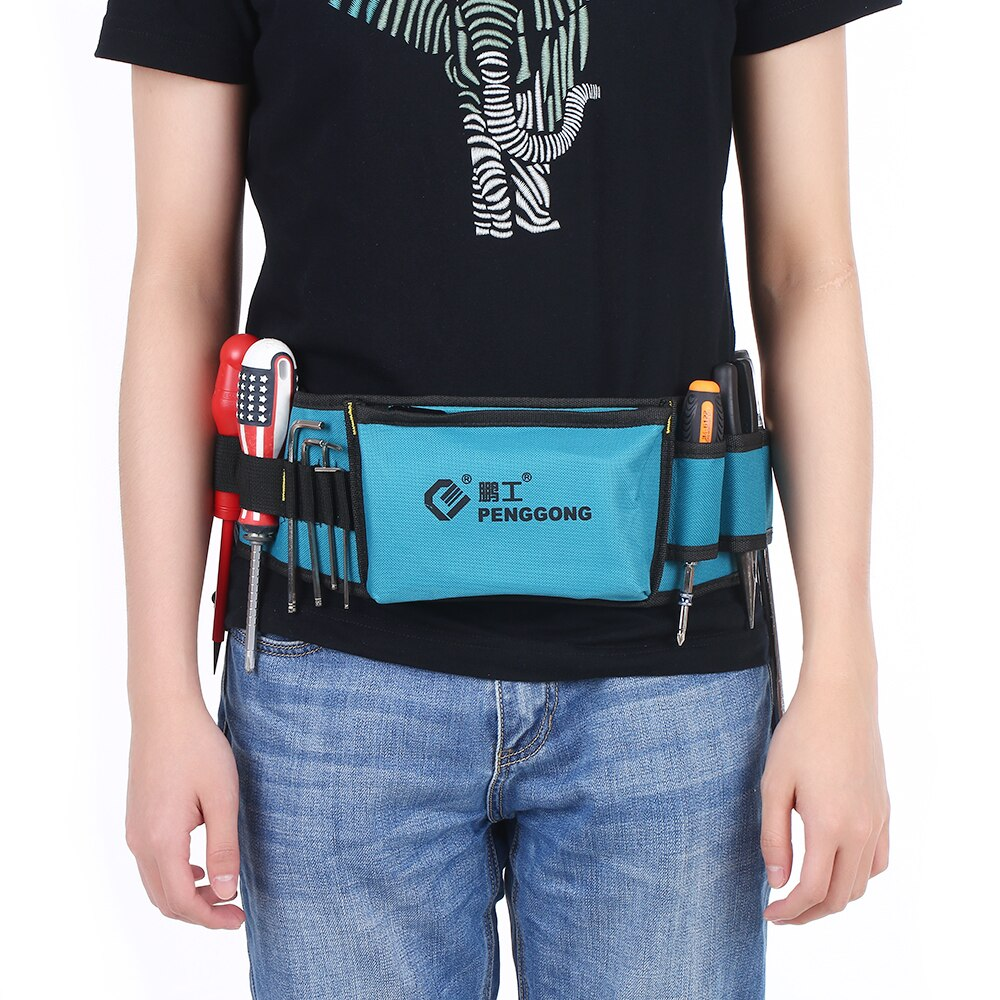 Multi-functional Waist Tool Bag Organizer Repairing Tool Pockets With Tool Belt Wearable Waterproof For Electrician Woodworking