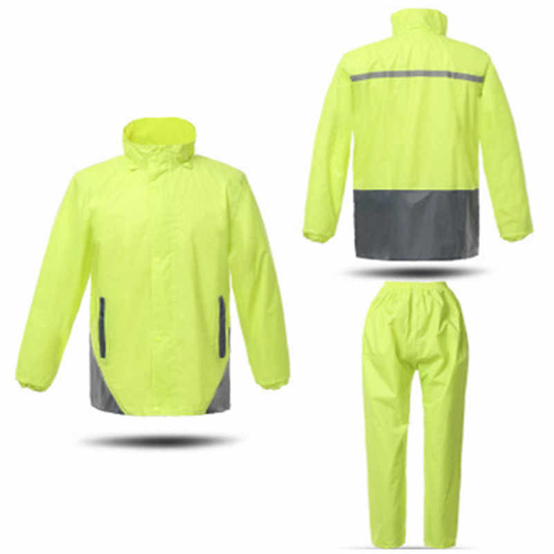 Fashion adults to ride electric motorcycle raincoat poncho luminous separate double take line suits in the raincoat