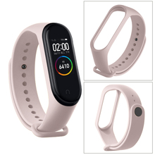 For Xiaomi Mi Band 4 3 Silicone Pink Replacement Wristband Bracelet Watchband For Xiomi Mi Band3 Miband 4 3 Band4 Wrist Strap