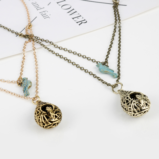 Hot movie jewelry the vampire diaries necklaces elena blue birds hot movie jewelry the vampire diaries necklaces elena blue birds vintage bird nest pendant necklace double aloadofball Choice Image