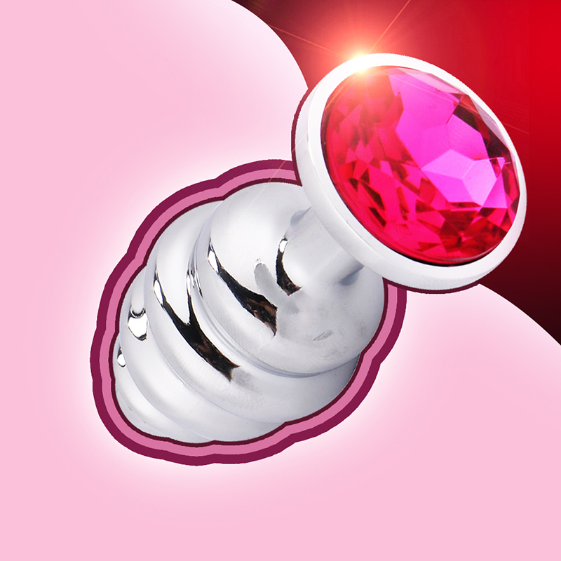 Metal Crystal Anal Plug Stainless Steel Booty Beads Jewelled Anal Butt Plug Sex Toys Products for Men Couples Smooth Touch
