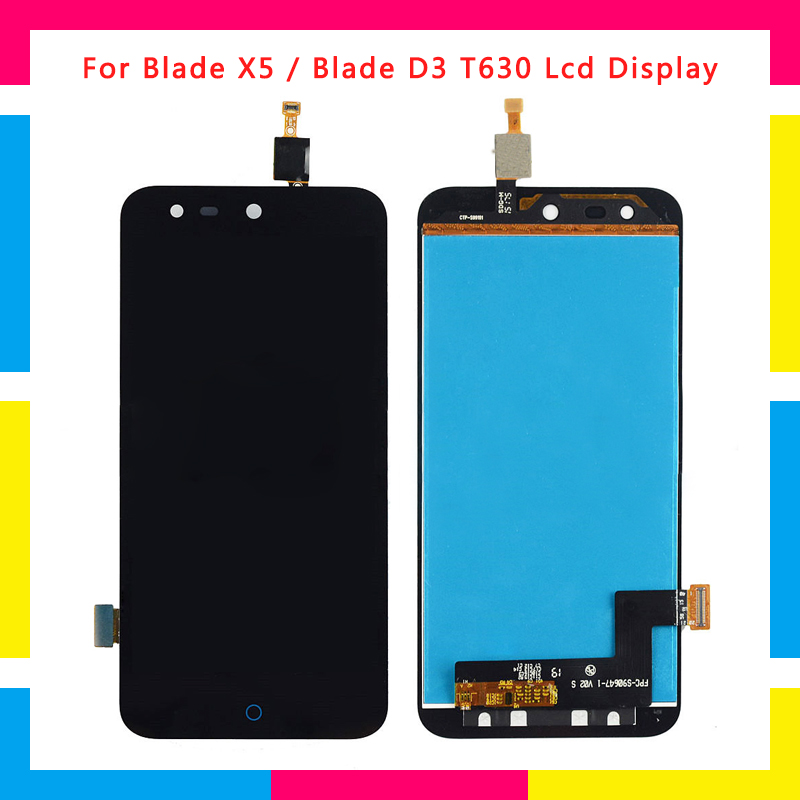 5pcs/lot LCD Display Screen With Touch Screen Digitizer Assembly For <font><b>ZTE</b></font> Blade X5 /Blade D3 <font><b>T630</b></font> Replacement image