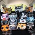 Cute Dog Cat Animals Car Pillow Neck Headrest Car Flight Travel Soft Nursing Cushion