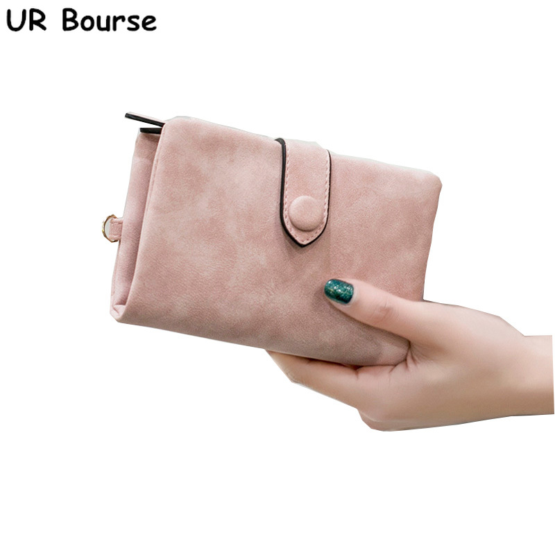 1647b0df8a9 UR BOURSE Women Scrub Leather Large-capacity Wallet Female Coin ...