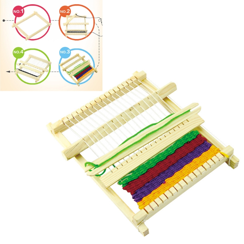 DIY Assembled Handloom Weaving Loom Science Technology Educational Children Toy W15