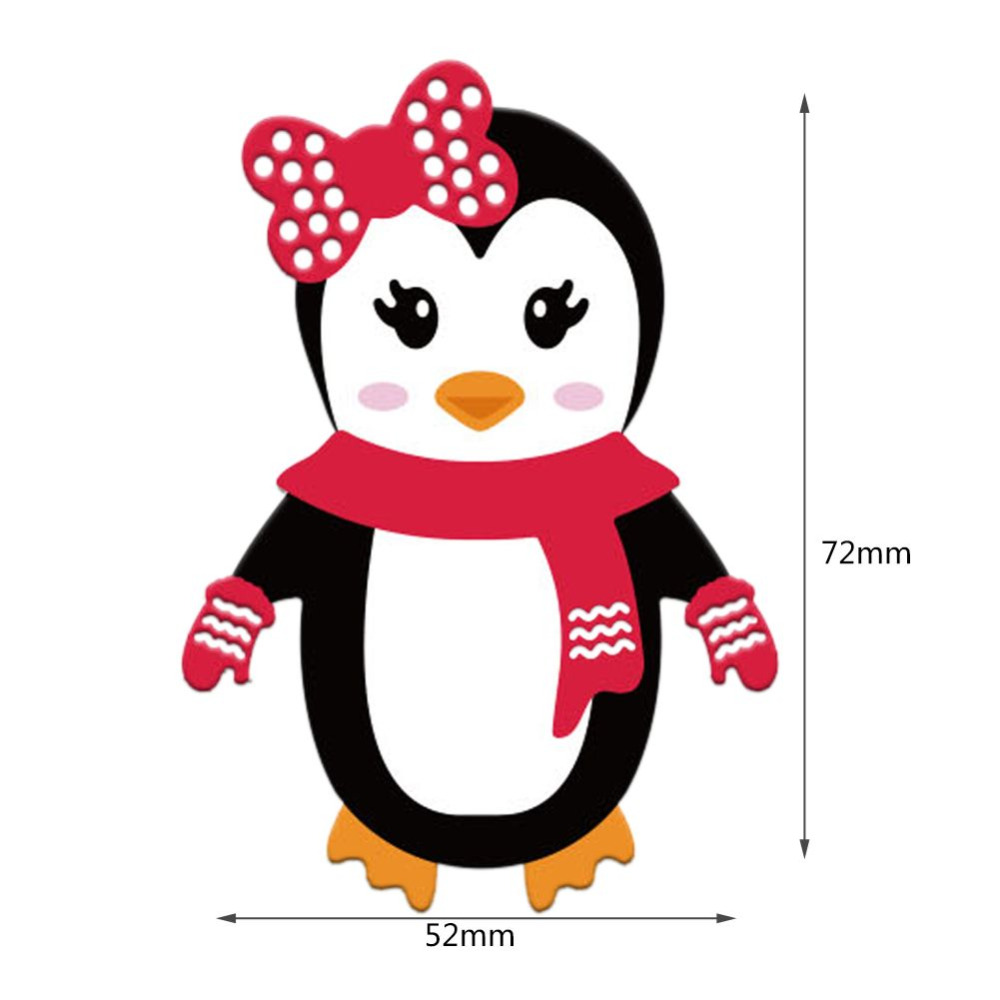 Christmas Penguin Cutting Dies Stencils Paper Winter Cards Decorative Scrapbooking Die Cut In
