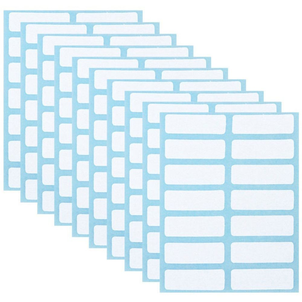 White Price Sticker Blank Note Labels Name Number Tags 12Sheets/Pack Self Adhesive Sticky Writable White Blank Labels 13 X 38mm