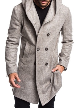 ZOGAA - Long Woolen Trench - Hooded Overcoat