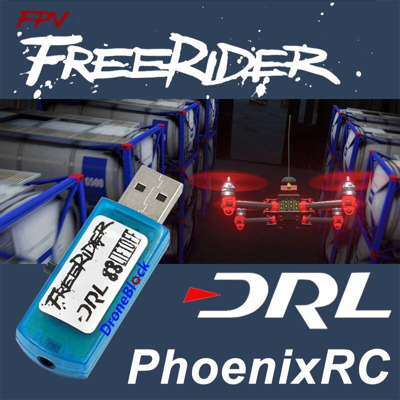 Freerider Liftoff DRL PhoenixRC FPV Flight Simulator Quadcopter Drone Plane Fixed Wing Training Flysky FS-i6 Futaba JR AT9S RC
