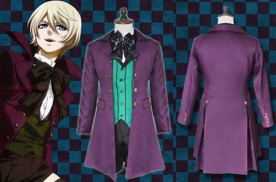 Kuroshitsuji Black Butler II 2 Alois Trancy Cosplay costume Coat Outfit track