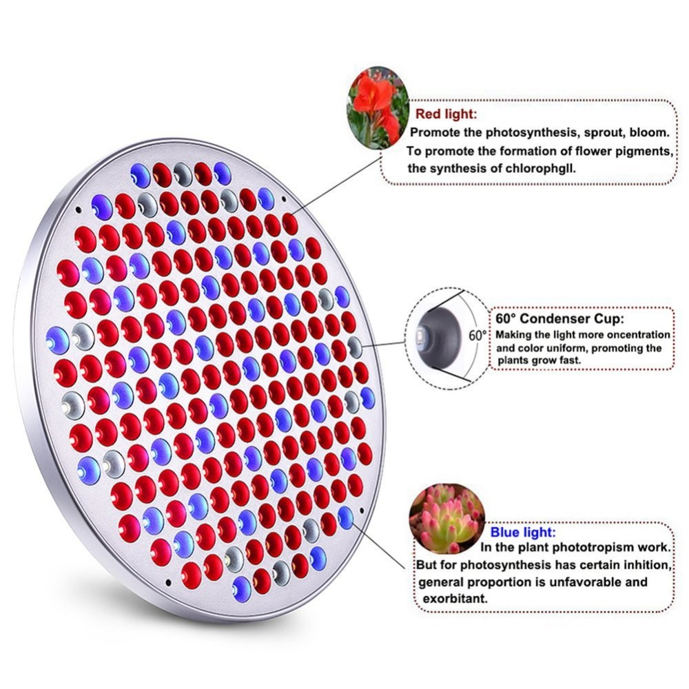 Ultrathin 1.1cm Spider Cob 50 Watt UFO Grow Light Bulbs Full LED Plant Light for Greenhouse Indoor Seed Hydro Veg Bloom Growth