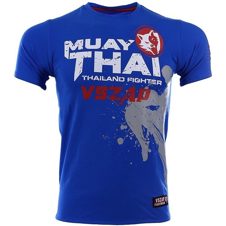 VSZAP Bangkok Muay Thai T Shirt Men Homme Boxing MMA T Shirt Gym Tee Shirt Fighting