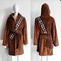 2017 new star wars chewbacca albornoz albornoz manto manto cabo con capucha cosplay marrón cosplay traje de halloween envío gratis