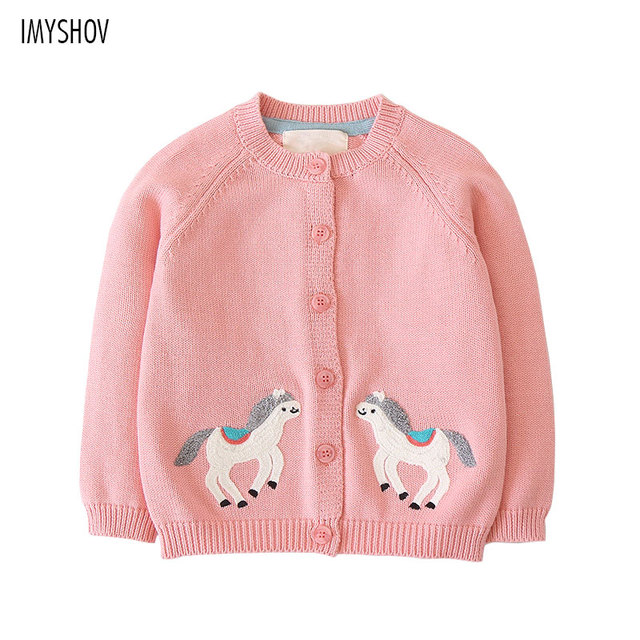 fdf88a5aaf9 Children's Sweater Spring Autumn Toddler Girls Clothes Long Cardigan For  Girls 2018 Little Pony Knit Cotton School Kids Jumpers-in Sweaters from ...