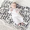 Newborn Baby Warm Wrap Blanket Super Soft Baby Receiving Swaddle Blanket Warm Baby Bedding