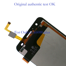 цена на 100% New Original LCD 5.5 Screen Digitizer Kit Replacement Free Shipping for Oukitel K6000 Plus Display and Touch Screen