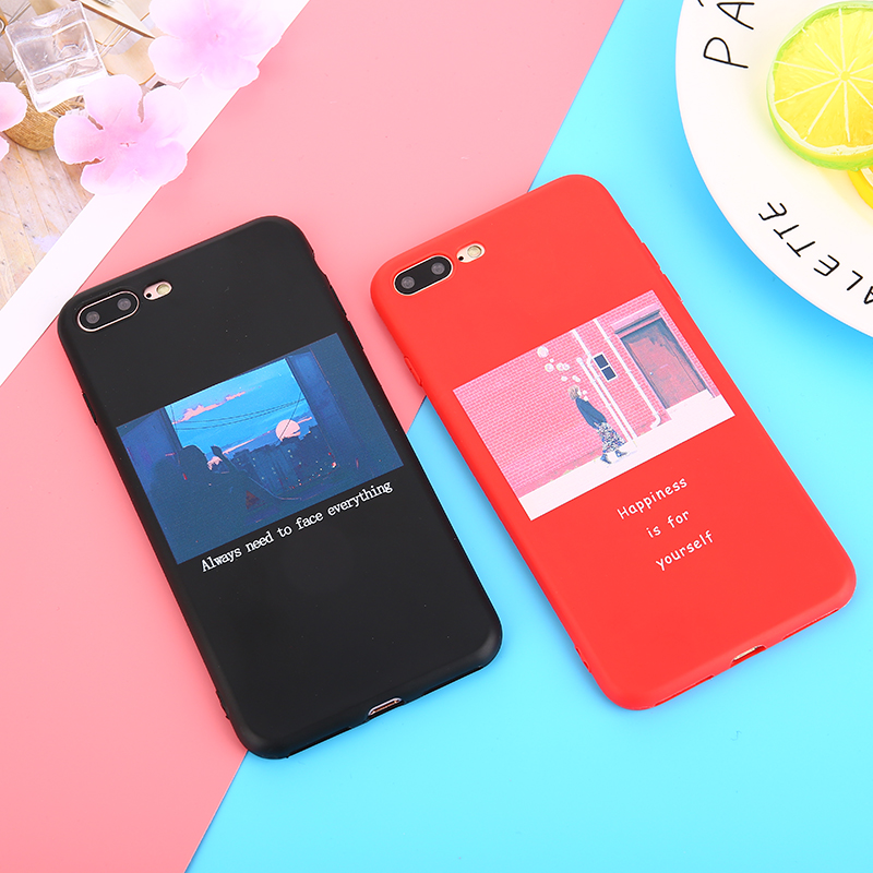 KMUYSL Fashion Printed Scene Character Soft TPU Silicone Cover For iPhone 7 7 Plus Case For iPhone 6 6s Plus 7 8 Plus X Cases