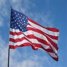 150*90cm banneru eua 100% poliéster padrão bandeira estrela uv anti-fade impressão dupla face buttonhole eua bandeira