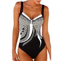 Bademode Frauen 2019 Badeanzug Vintage Retro Badeanzüge Backless Schwimmen Anzug für Beachwear Plus Größe Monokini M-3XL