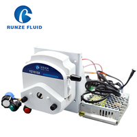 Power Supply 110 240v Self Priming Peristaltic Pump Stepper Motor with Speed Adjustable Driver