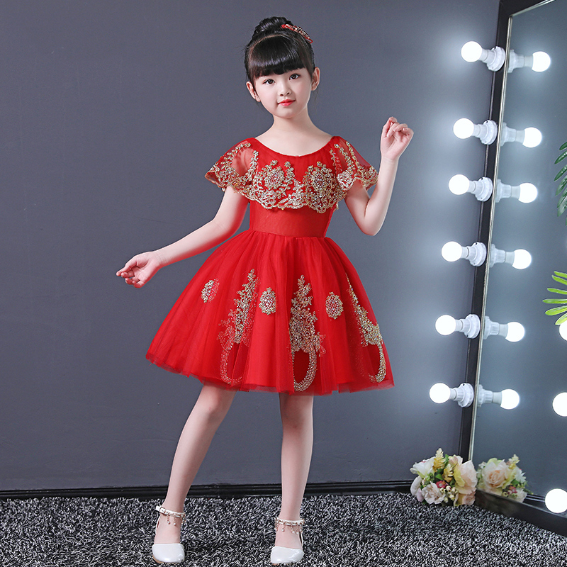 Red Flower Girl Dresses for Wedding Gold Appliques Ball Gown Kids Pageant  Dress for Birthday Costume Princess Party Gowns B183 - aliexpress.com -  imall.com 84ba7c054f34