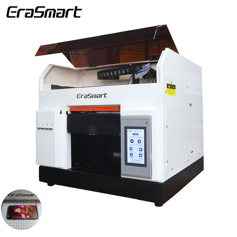 A4 Plat Lit Verre imprimante Uv led Rouleau Bois Vernis Uv Machine Imprimante Pour Tasse Pcb Bois