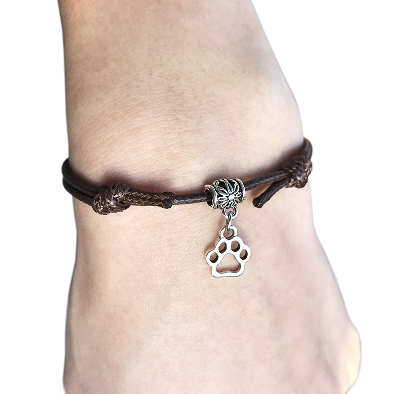 2020 New Cute Unicorn Animal Pendant Red Thread String Bracelet Lucky Black Coffee Handmade Rope Bracelet for Women Men Jewelry
