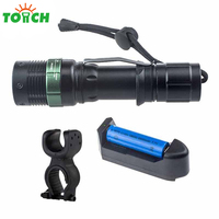 High Quality Led Rechargeable Worklight Cree Xml Q5 Bulb Hand Lighter Metal Clip Portable Flashlight With