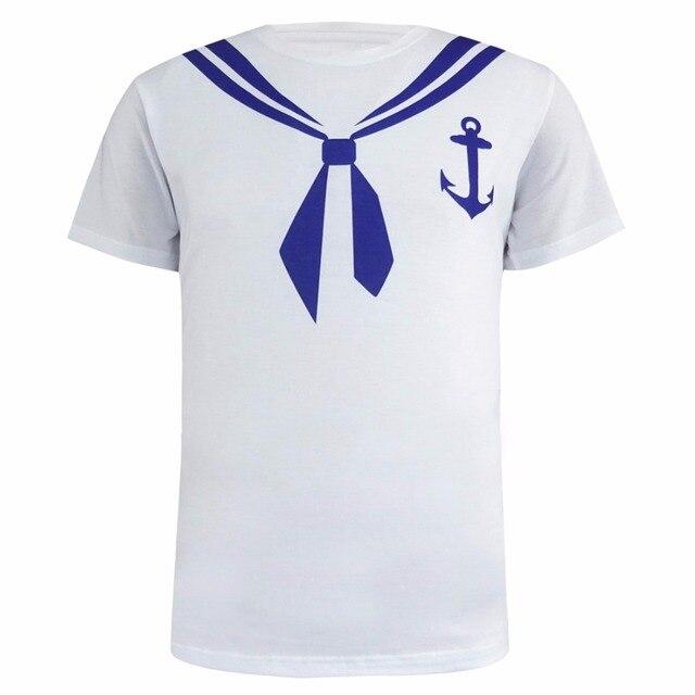Homens Marinheiro 3D Camiseta Soldado Traje Do Partido Topo em ... 9e9ab3d970d