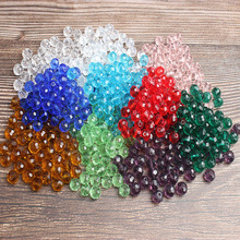 LanLi natural multicolor glass faceted Abacus beads septum Loose Beads DIY Fashion bracelet necklace Jewelry Accessories